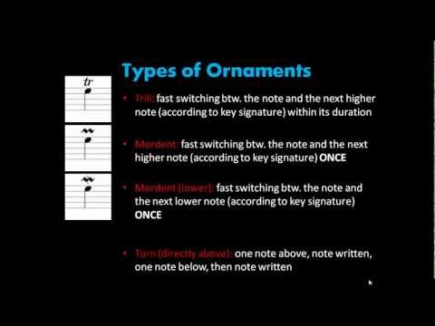 Music Theory | 2.3 Ornaments