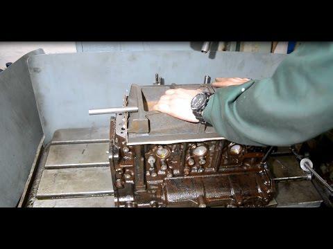 Шлифовка плоскости блока цилиндров вручную