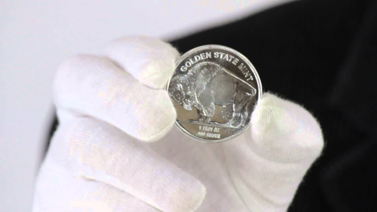 1 Oz Silver Buffalo Round 999 Fine Goldmart Youtube