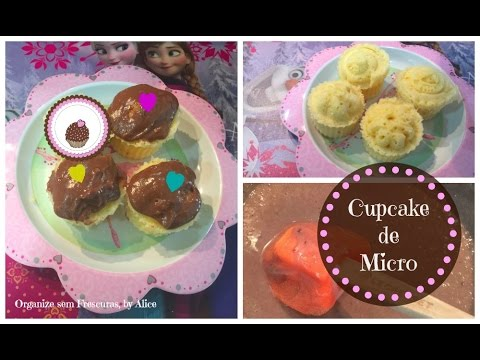 Cupcake de Microondas, by Alice | Organize sem Frescuras
