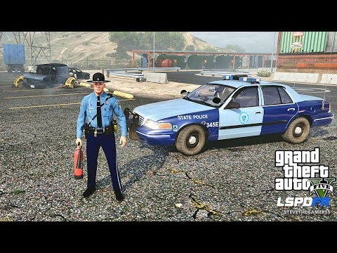 LSPDFR #502 MASSACHUSETTS STATE POLICE PATROL!! (GTA 5 REAL LIFE PC MOD)