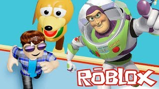 TOY STORY 4 OBBY IN ROBLOX - Let's RUN FROM THE GIANT BUZZ LIGHTYEAR