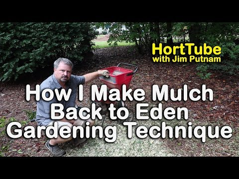 How I Make Mulch – Back to Eden Organic Gardening Technique