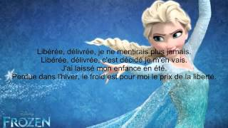Frozen Let it go French lyrics