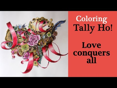 Coloring 'Tally Ho!' Love conquers all / Derwent Inktense pencils