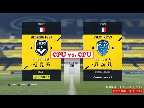Bordeaux - Troyes [FIFA 17] | Ligue 1 Conforama 2017-2018 (4ème Journée) | IA Vs. IA