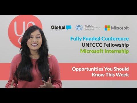 Yo Hits   Fully Funded Conference, UNFCCC Fellowship, Microsoft Internship   February 20, 2018