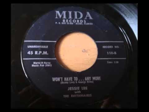 JESSIE LEE AND GROUP RHYTHMAIRES  LONELY BROKEN HEART  WONT HAVE TOANY MORE  MIDA 110  1958