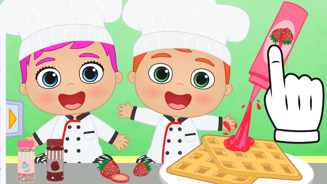 Beb s alex y lily aprende a cocinar gofres con los beb s - Juegos para aprender a cocinar ...