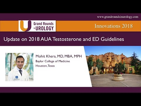 Update On 2018 AUA Testosterone And ED Guidelines