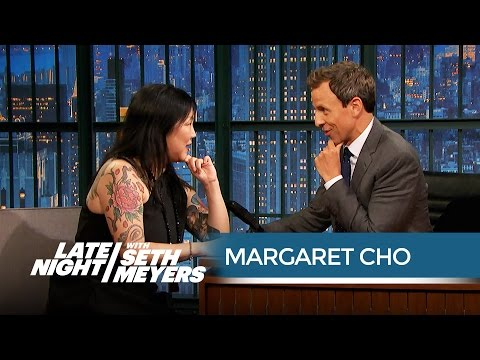 Margaret Cho Talks Working with Tina Fey and Amy Poehler - Late Night with Seth Meyers