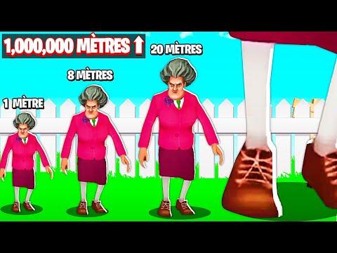 MA PROF MESURE PLUS DE 1,000,000 METRES ! (Scary Teacher 3D Chapitre 7)