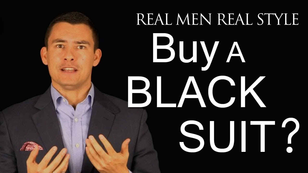 1f5bff1ab03 Should a Man Buy a Black Suit - Men s Style Fashion Advice - When to ...