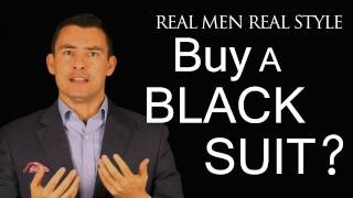 Should a Man Buy a Black Suit - Men's Style Fashion Advice - When to wear 2-Piece Black Suits