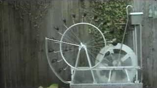 Perpetual motion water wheel