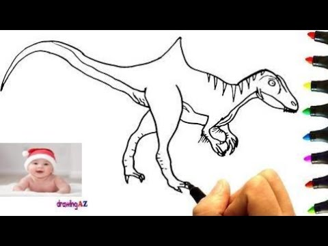 Carcharodontosaurus Art Video For Kids Play Coloring And