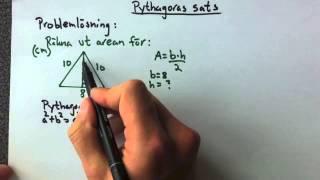 Pythagoras sats problemlösning