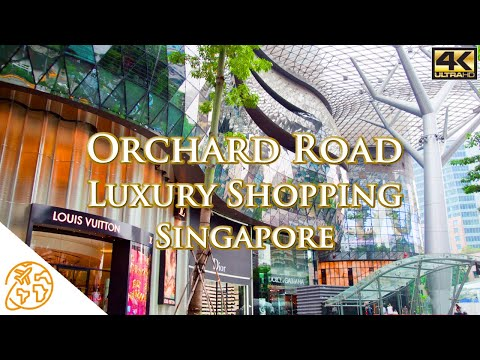 Orchard Road Singapore Luxury shopping street walking tour Travel Video Singapore Attractions