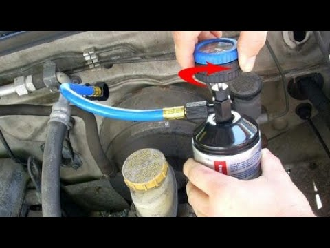 How To Refill Your Car Ac Gas Youtube