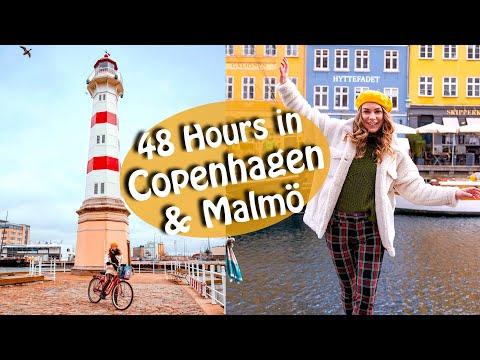 Copenhagen & Malmö Travel Vlog  - Food & Biking