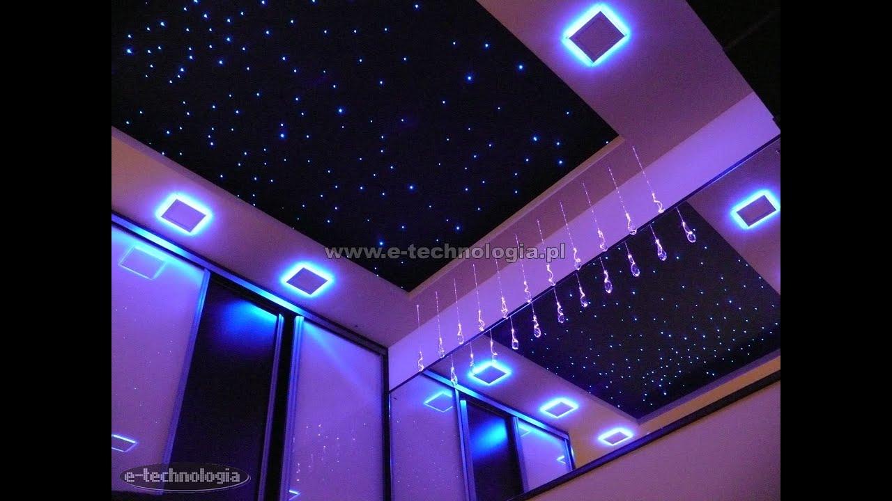 Oświetlenie Led Sufitu Lampy Led Sypialnia Taśmy Led Gwiezdne Niebo Montaż W Suficie