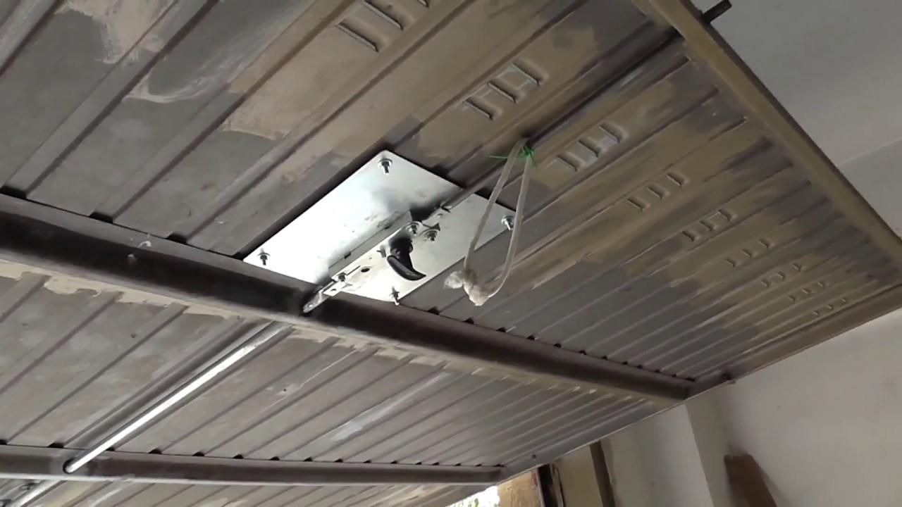 Sostituzione Faidate Serratura Porta Garage Basculante Youtube