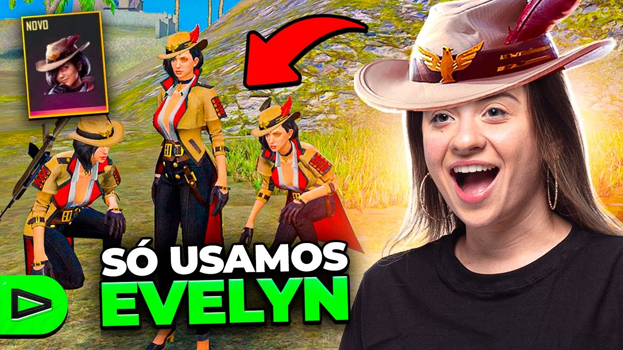 SQUAD DA LOUD SÓ COM A NOVA PERSONAGEM EVELYN!! FREE FIRE