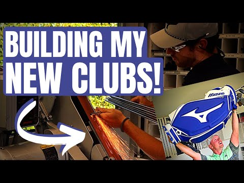 BUILDING MY NEW GOLF CLUBS ON THE TOUR VAN!!!