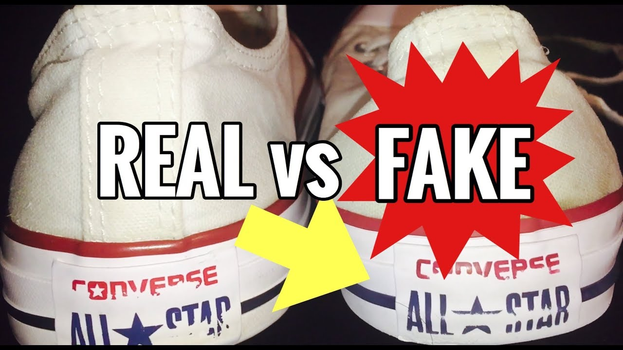 bc1a0d7fef06 CONVERSE - REAL VS FAKE! - YouTube
