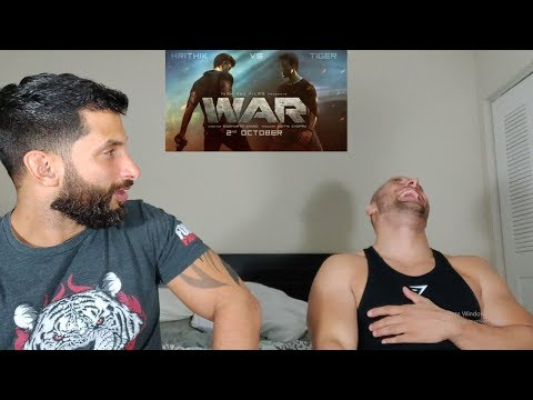 War   Teaser  Hrithik Roshan  Tiger Shroff  Vaani Kapoor REACTION