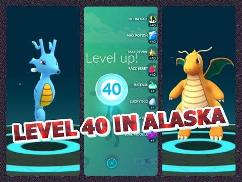 Pokémon GO LEVEL 40 IN ALASKA I DID IT FINALLY! Kingdra & Dragonite Evolutions