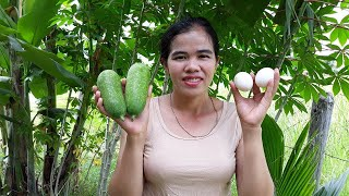 Asian food , Awesome Cooking duck egg W/ wax gourd recipe - Cook egg Recipes - village food factory