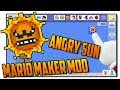 The Angry Sun in Super Mario Maker - SMM Mod