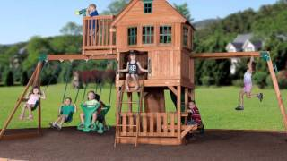 Best Buy Skyfort All-cedar Play Set