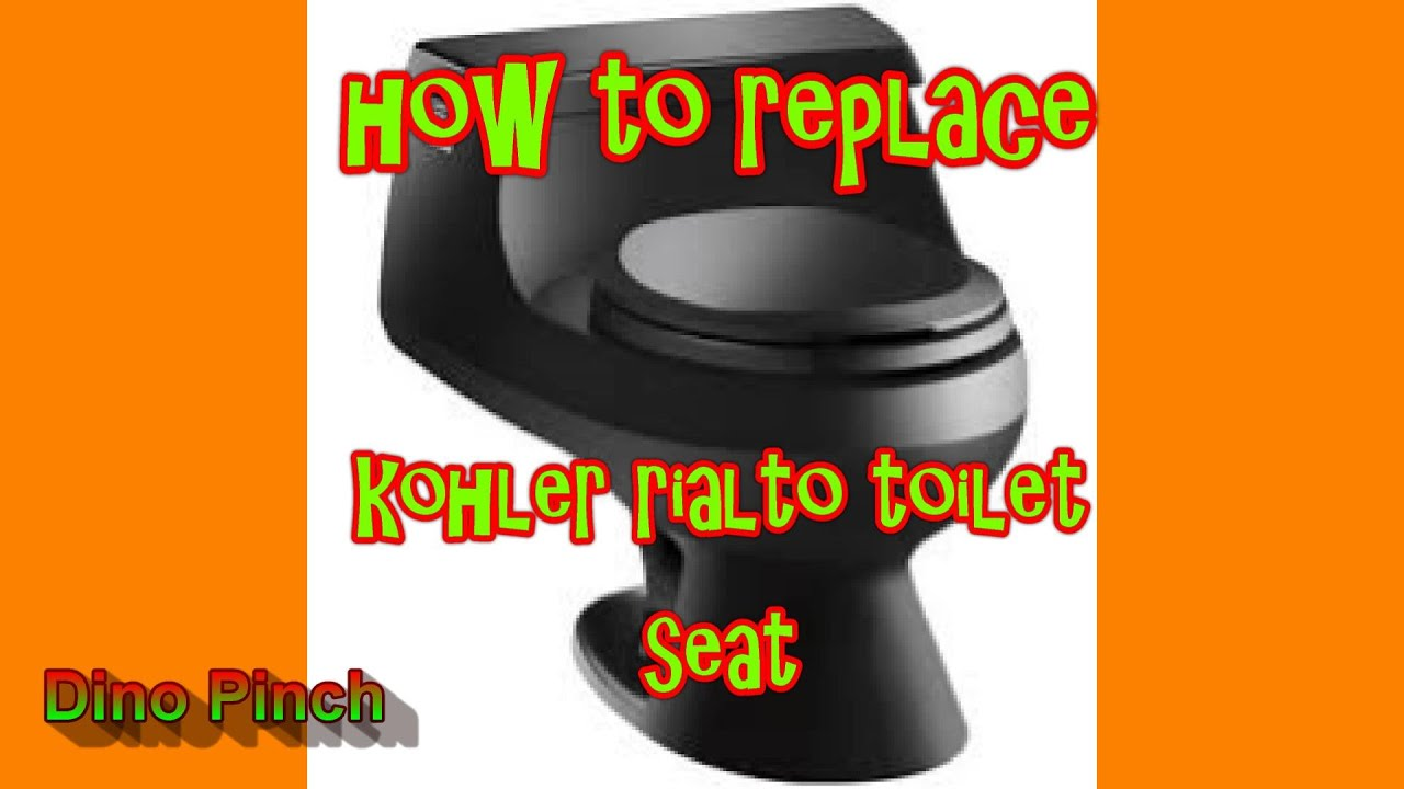 SEAT REPLACEMENT KOHLER RIALTO toilet K3386 dino YouTube