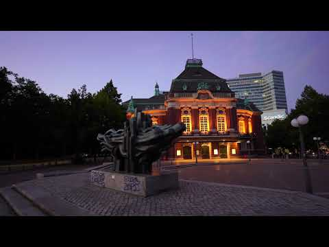 take a walk with me in Hamburg at night 4K 2020 August
