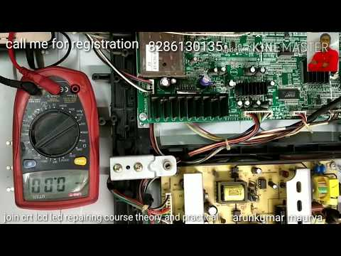 How to repair dead LCD led TV step by step practical video