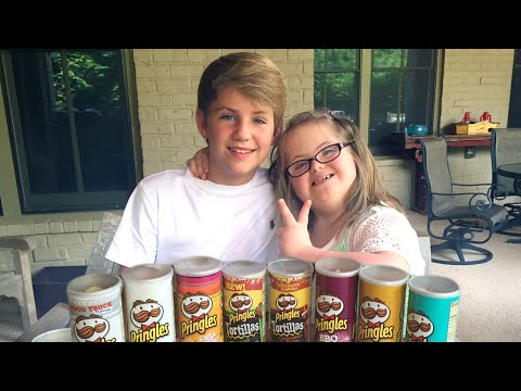 MattyBRaps vs Sarah Grace - The Pringles Challenge