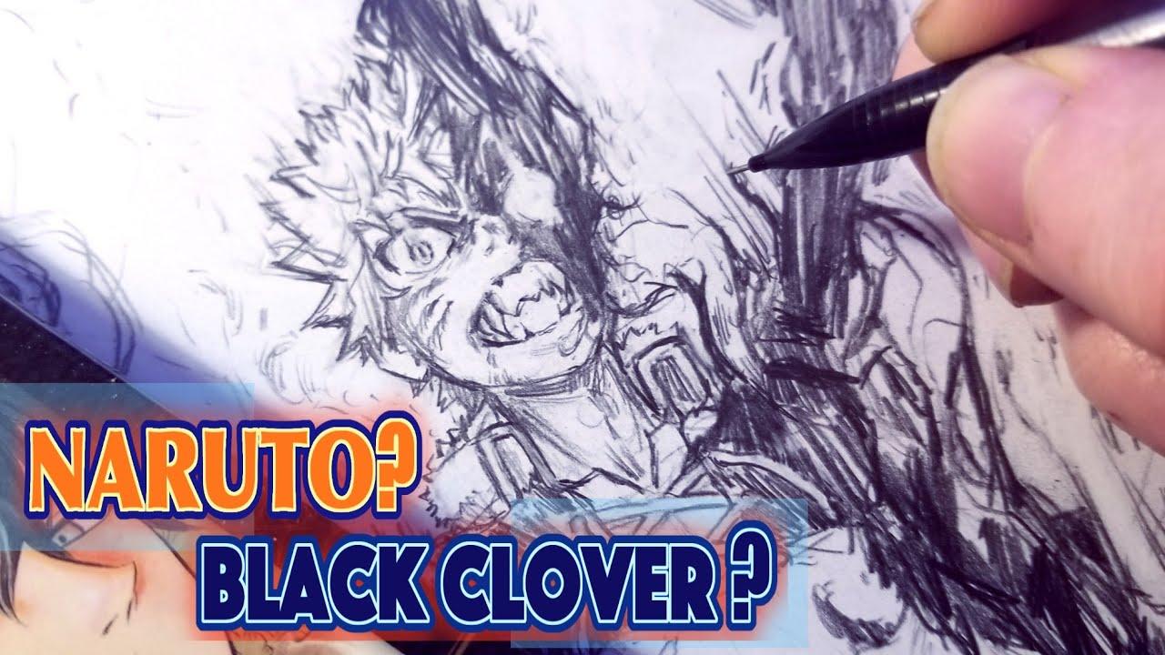 Drawing Naruto As Black Clover Demon Anime Manga Sketch Youtube