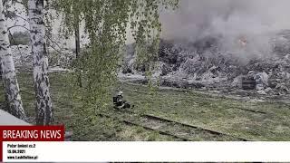 Pożar w sortowni śmieci cz. 2