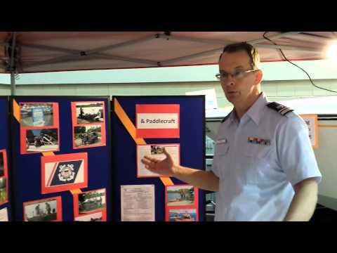 US Coast Guard Auxiliary At The 2014 Lansing Boat Show