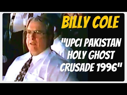Bishop Billy H. Cole in UPCI Pakistan Holy Ghost Crusade 1996