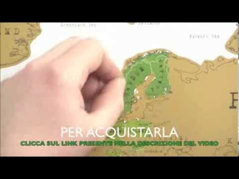 MAPPA MONDO TIPO GRATTA E VINCI POSTER DA PARETE SCRATCH MAP CARTINA - cartina mondo