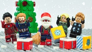 Lego Spiderman Santa Claus Giving Presents Animation For Kids