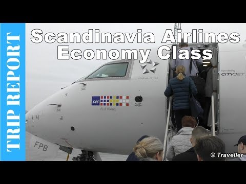 BIG DELAY! - Scandinavian Airlines Tripreport - Economy Class on a Bombardier CRJ900