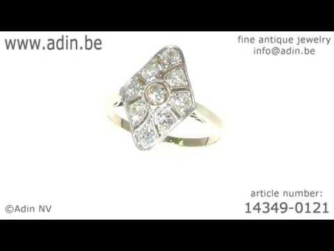 Belle Epoque Art Deco diamond engagement ring. (Adin reference: 14349-0121)