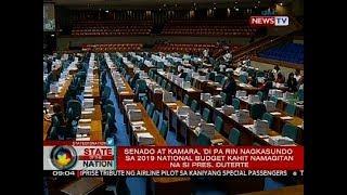 Senado at Kamara, 'di pa rin nagkasundo sa 2019 national budget kahit namagitan na si Pres. Duterte