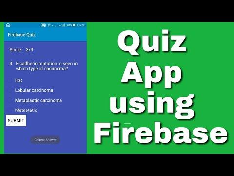 Quiz app using Firebase in Sketchware