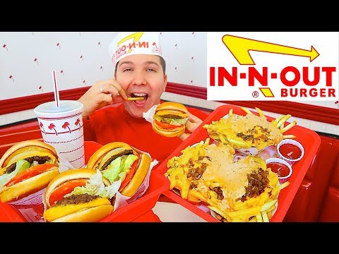 In-N-Out Burger • Massive Animal Style Cheat Day • MUKBANG