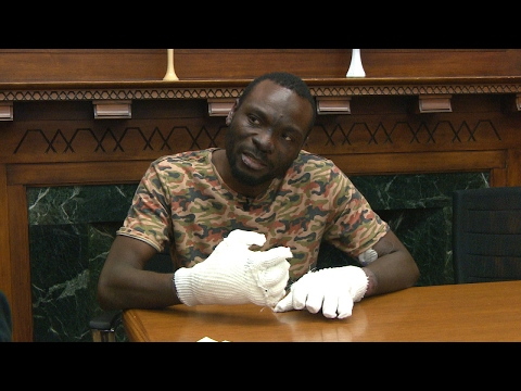 Refugee to Canada, Seidu Mohammed describes being lost in the frigid cold